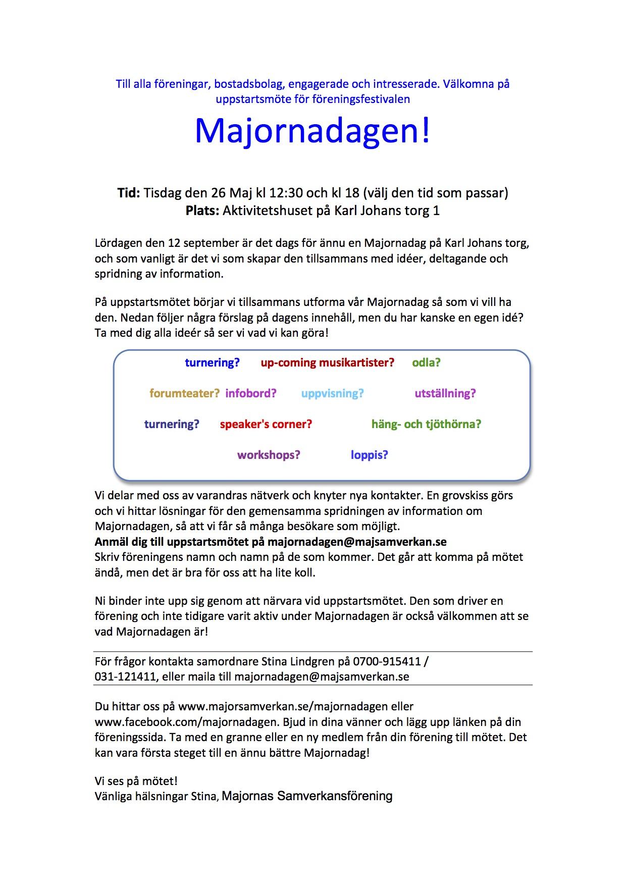 majornadagen